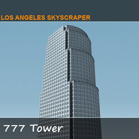 3d 777 tower skyscraper model