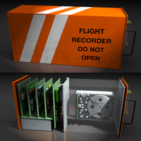 flight recorder black box 3d obj