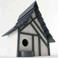 3d birdhouse wood model
