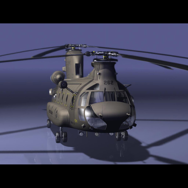 CH-47 Chinook Helicopter Pre-Rigged for Craft Director Tools