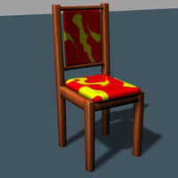 chair red&yellowy