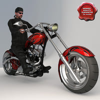 custom chopper bike biker max