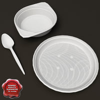 disposable plates 3d model