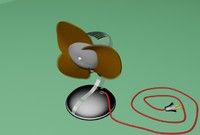 3d model fan animation