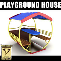playground house 3d model