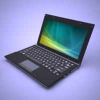 3d model laptop