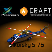 Sikorsky S-76 Helicopter Pre-Rigged for Craft Director Studio