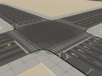 modular city streets 3d obj