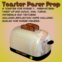 poser toaster poser prop toast
