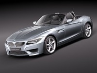 bmw z4 2011 sport coupe 3d model