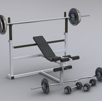 dumbbell benchpress bench 3ds