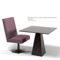 driade tigo modern dining table chair contemporary
