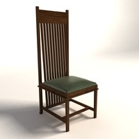 Frank Lloyd Wright Dana Thomas Large Side Chair