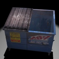 garbage dumpster 3d model