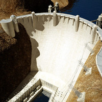 Hydroelectric Dam  - Textured