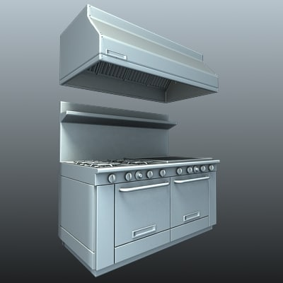 Commercial Kitchen Stove With   Ovens