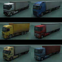 trucks semi trailers 3d model