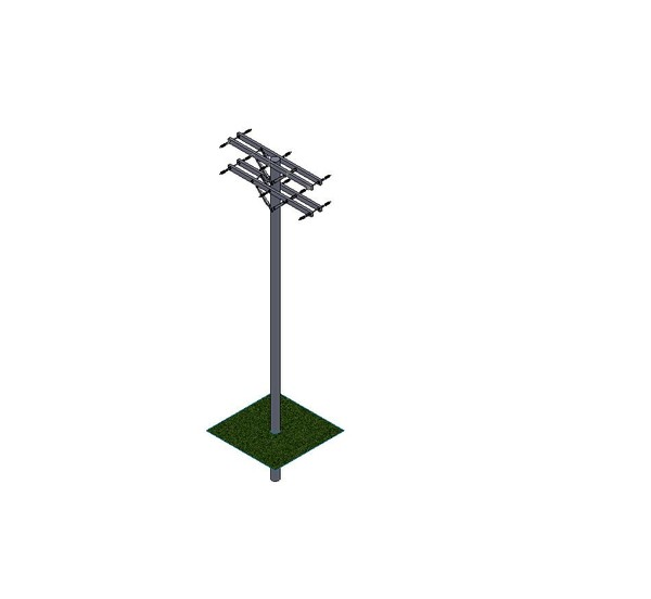 power pole - with and without insulators