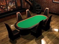 poker room table 3d model