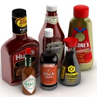 3d model of condiments