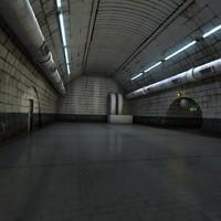 underground tunnel scene obj