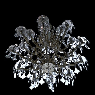 chandelier light 3d model - Chandelier... by MISS3