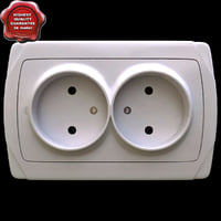 electrical outlet v2 3d model
