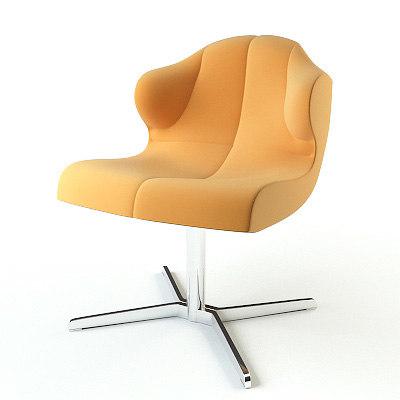 3d model armchair ligne roset. Black Bedroom Furniture Sets. Home Design Ideas