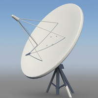 3d satellite dish