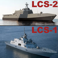 uss littoral combat ships 3d model