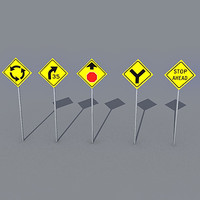 3ds max traffic sign pack