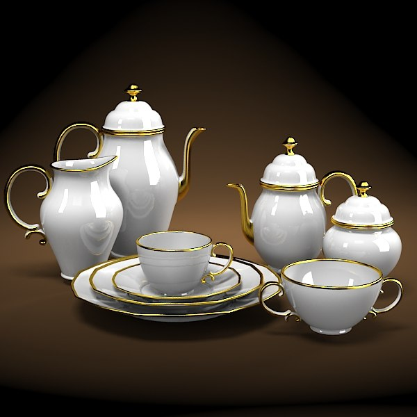 classic porcelain golden tea set ware pot sugar plate cup creamer porcelan.jpg