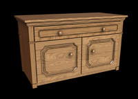 dresser bedroom 3d obj