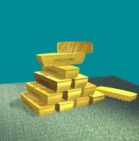 3d model gold bars