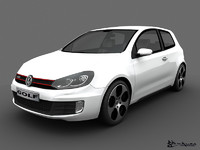volkswagen golf gti 2010 3d model
