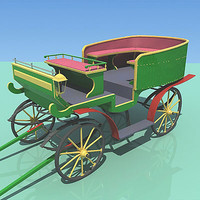 green carriage 3d model