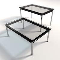 le corbusier lc10 dining 3ds