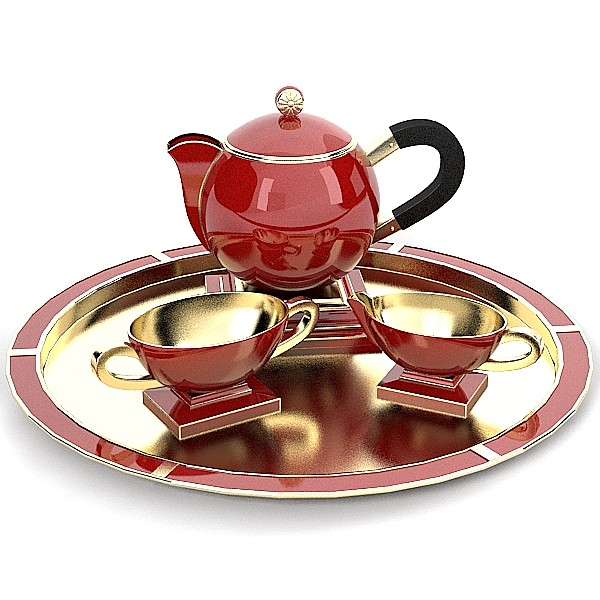modern contemporary porcelain golden tea set tray ware pot  cup   art deco.jpg