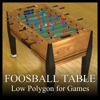 Low Polygon Foosball Table