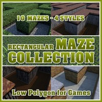 Low Polygon Rectangular Maze Collection