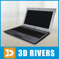 samsung q330 laptop 3d model