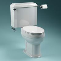 3d model toilet scanline
