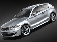 bmw 1 3door hatchback 3d model
