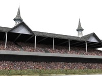 grandstand churchill downs 3d model