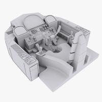 sci-fi cockpit 3d model