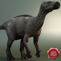 3d model of dinosaur iguanodon