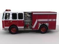 firetruck polygons rescue 3d model