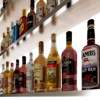 20 Liquor Bottles - Rum