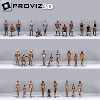 3D People: 30 Still 3D Beach People Vol. 01