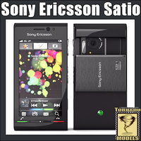 3d model of sony ericsson satio